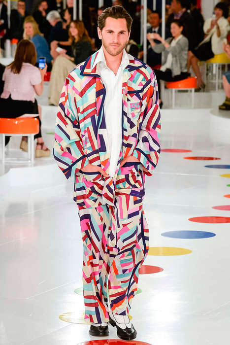 Expressive Vacation Apparel - The Latest Chanel Resort Menswear Range is Technicolored