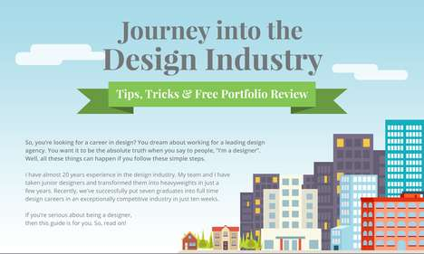 Design Career Guides - This Infographic on Building a Design Career is Helpful for Beginners