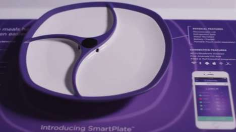 Meal-Tracking Plates - SmartPlate Tracks and Analyzes The Food Placed on It