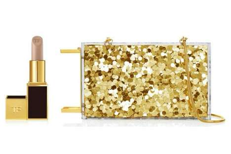 Lipstick-Holding Clutches - The Tom Ford Lipstick Minaudiere Does Not Compromise Clutch Space