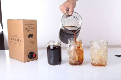 Boxed Cold Coffee - This Cold Brewed Java is Available on Tap with This Conveneint Design