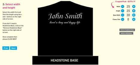 Virtual Tombstone Designers - Design Your Headstone Lets Users Customize End of Life Monuments
