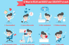 Creativity-Enhancing Guides - This Infographic Offers Recommendations on Boosting Creativity at Work