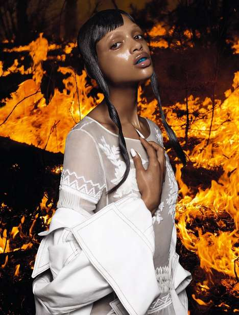 Fiery Futuristic Editorials - The Numero #163 Incandescente Photoshoot Provides a Look Ahead