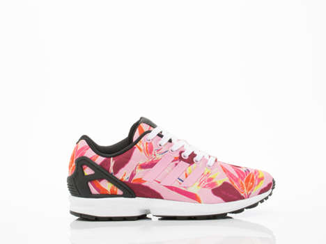 Botanical Summer Sneakers - These Adidas ZX Flux Shoes Feature a Vibrant and Floral Print