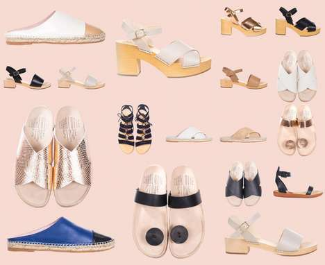 Eclectic Summer Sandals - The Latest Charlotte Stone Footwear Collection Contains Numerous Styles