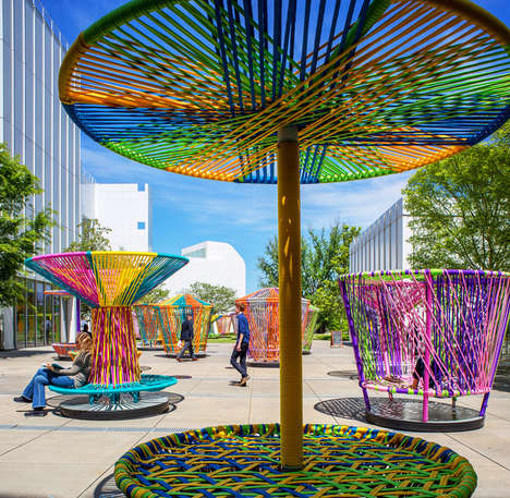 Whimsical Public Art Displays - This Art Installation Features Larger Than Life Spinning Tops