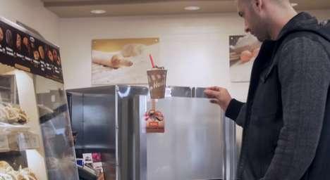 Floating Beverage Stunts - Tim Horton's Drink Marketing Promotes a Higher Level of Deliciousness