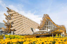 Landscape-Mimicking Rooftops - The China Pavilion at the Milan Expo 2015 Resembles a Mountain Range