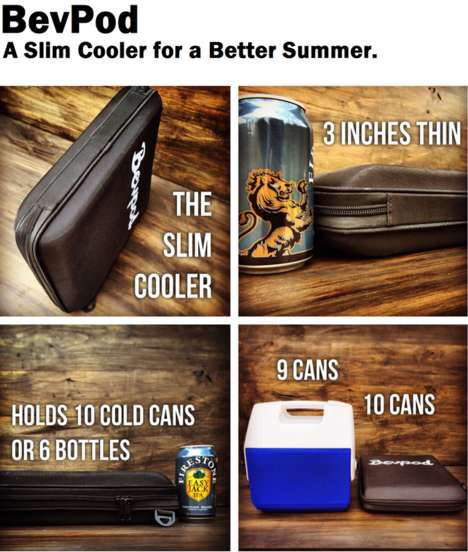 Revolutionized Slim Coolers - Bevpod Has Designed the World's Most Portable Coolers