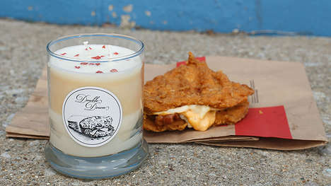 Chicken-Scented Candles - This Kentucky Fried Chicken-Themed Double Down Candle is a Limited Edition