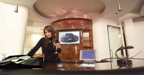 Auto Showroom Lounges - Club Aston in Los Angeles Serves Up Martinis to Customers