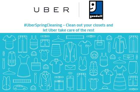 Rideshare Donation Services - Uber and Goodwill Team Up to Help with Spring Cleaning