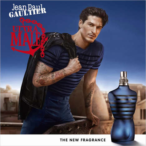 Masculine Perfume Marketing - Jean Paul Gaultier's Ultra Male Fragrance Campaign is Rebellious