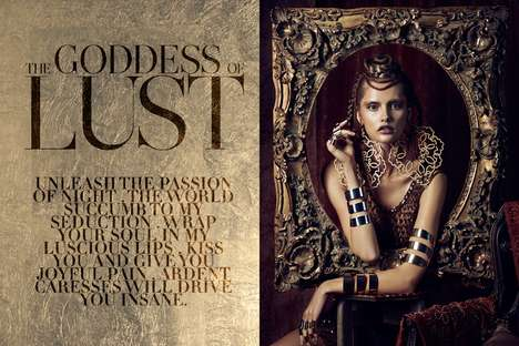 Tribal Deity Editorials - Goddess of Lust by Danny Cardozo Stars Model Patricija Zilinskaite