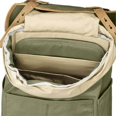 Rugged Practical Backpacks - Fjallraven's Rucksack No. 21 Has a Seat Pad Perfect for Music Festivals
