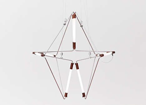 Adjustable Lighting Fixtures - The James Dieter Mobi Lamp Can Be Twisted into Different Shapes