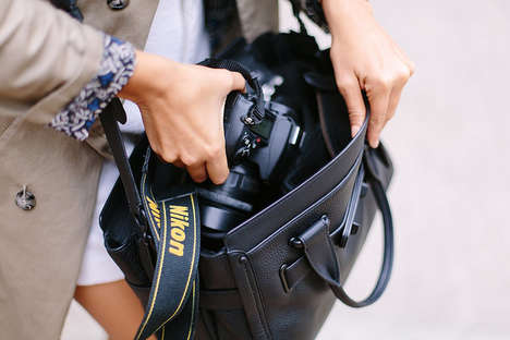 Luxe Camera Bags - This Chic Camera Bag DIY Helps You Carry Your Device in Style