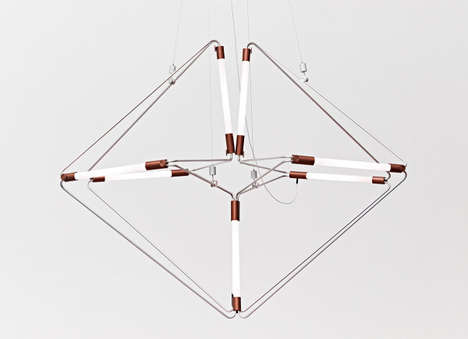 Adjustable Geometric Lamps - James Dieter's Design is a Quirky Conversation-Starter for Any Home