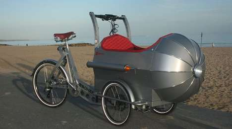 Merged Missile Bikes - The Boxer Rocket Trike Looks Like an Old-School Spaceship