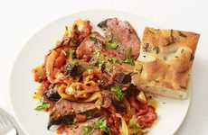 Sirloin-Specific Pies - The Food Network Steak Pizzaiola Recipe Merges Meat with Italian Ingredients