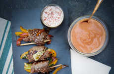 Spicy Meat Dishes - Seared Steak with Creamy Sriracha Dipping Sauce is Made for Pop Culture Junkies