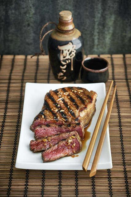 Succulent Teriyaki Steaks - This Teriyaki Steak Recipe is Inspired By Legendary Chef James Beard