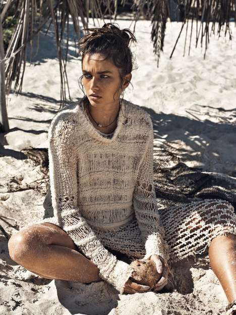Chic Shipwrecked Editorials - The Vogue Paris A La Plage Photoshoot Exhibits Distressed Beach Scenes