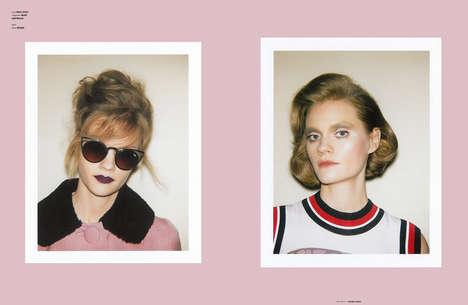 Nostalgic Beauty Editorials - The Ones 2 Watch 'Like Yesterday' Story Boasts Retro Hair and Makeup