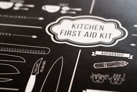 Minimalist Kitchen Aid Posters - This Sleek Poster is Packed with Basic Cooking Tips and Tricks