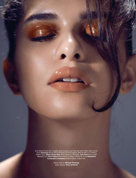 Dewy Beauty Portraits - Harper's Bazaar Indonesia's Into The Gloss Image Series is Fresh-Faced