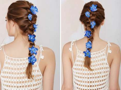 Botanical Hair Accessories - Nasty Gal's Flower Hair Pins are Inspired by Hippie Festival Fashions