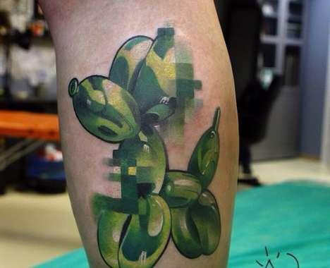 Pixel Glitch Tattoos