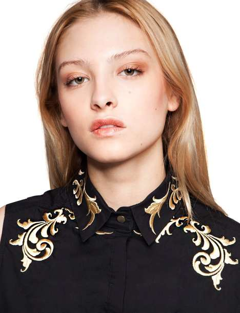 Contemporary Western Couture - This Embroidered Top is Inspired by Cowboy Runway Themes