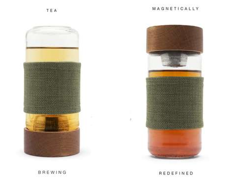 Magnetic Tea Infusers - Imbune's Tea Travel Mug Uses Magnets to Brew Loose Leaf Tea