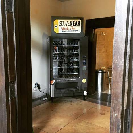 Travel Souvenir ATMs - Souvenear is a Craft-Dispensing Vending Machine at Kansas City Airport