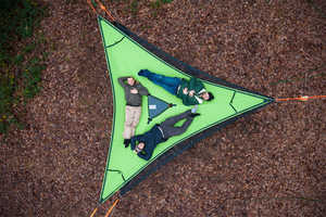 The Trillium Triple Hammock is the Ultimate Accessory for Campers