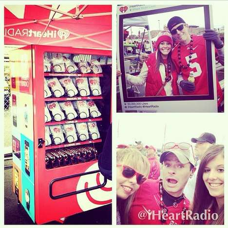 Social Media Vending Machines - IHeartRadio's Kiosk Turns Instagram Posts into Free Merchandise