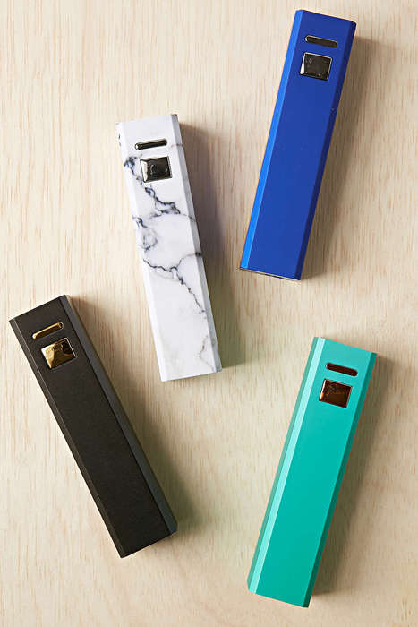 Fashionable File Storage - This Portable Charger Powers Up Mobile Devices in Style