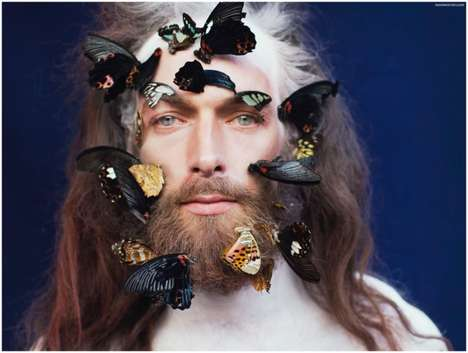 Bearded Butterfly Editorials - Will Lewis Channels a Bohemian Guru for Style Website The Fashionisto