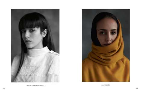 Artistic Arabian Editorials - The Interview Germany Tage in Tanger Photoshoot Exhibits Modest Looks
