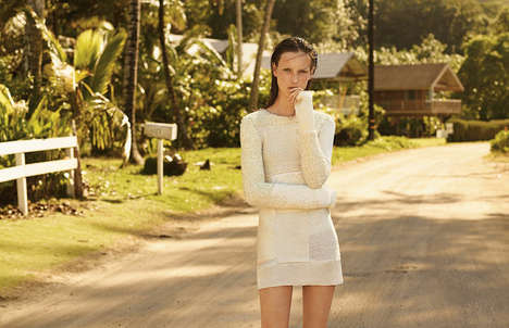 Couture Castaway Editorials - The New York Times T Style Gone Girl Photoshoot is Visibly Isolated