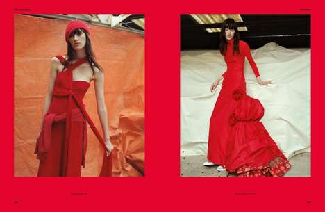 Exclusively Crimson Editorials - The System I Was Drugged by This Sort of Life Photoshoot is All Red