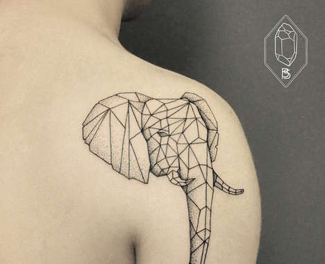 Geometric Nature Tattoos