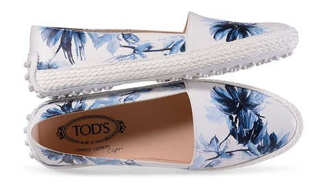 Artful Luxury Slip-Ons - These Tod's Espadrilles Come in Four Watercolor Prints