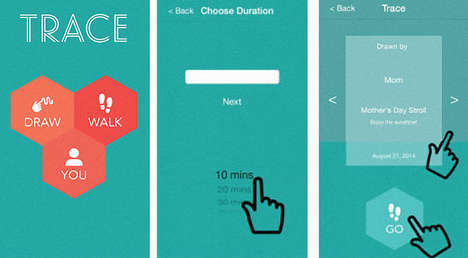 Walk-Encouraging Apps - The Trace AppLet's People Send Secret Messages Decoded by Walking