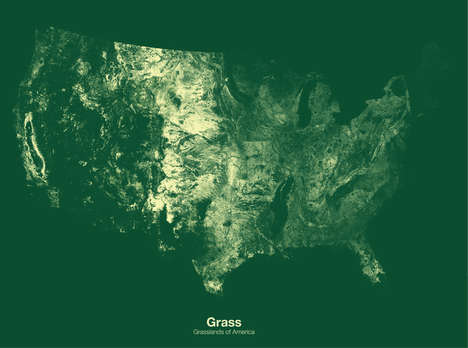 Minimalist Cropping Cartography - The Michael Pecirno Maps Display U.S. Agricultural Layouts