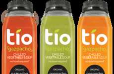 Organic Bottled Soups - Tio's Gazpacho Soup Can Be Enjoyed Straight Out of the Bottle