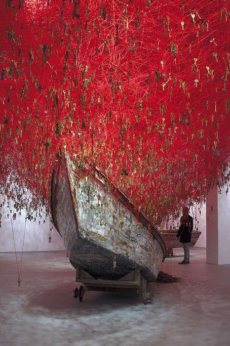 Massive Key Installations - Chiharu Shiota's 'The Key in the Hand' Unlocks Thousands of Stories