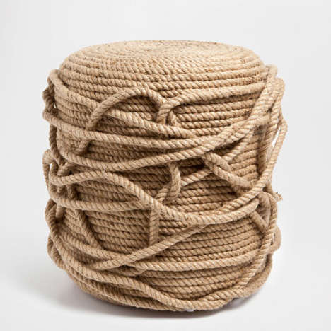 Nautical Rope Furniture - Zara Home's Jute Rope Stool is Rustic and Vintage-Themed